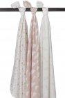 Meyco Hydrofiele Swaddles 3pack  Print Roze