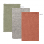 Little Dutch Washand Pure Olive/Grey/Rust 3-Pack