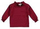 Babylook T-Shirt Ruffle Dots Tibetan Red