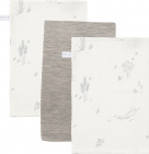 Little Dutch Washand Ocean White/Pure Grey/Ocean White 3-Pack