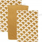 Little Dutch Washand Sunrise Ochre/Pure Ochre/Sunrise Ochre 3-Pack