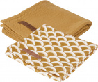 Little Dutch Multidoek 2 Stuks Sunrise Ochre / Pure Ochre  70x70