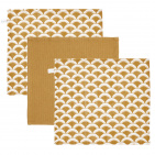 Little Dutch Monddoek Sunrise Ochre/Pure Ochre/Sunrise Ochre 3-Pack