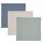 Little Dutch Monddoek Pure Blue/Grey/Mint  3-Pack