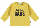 Babylook T-Shirt Kleine Baas Misted Yellow