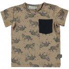 Babylook T-Shirt Korte Mouw Tiger Silver Mink