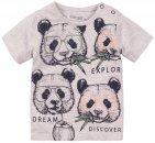 Dirkje T-Shirt Korte Mouw Panda Grey Melange