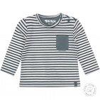 Dirkje T-Shirt Stripe Dusty Green/Offwhite